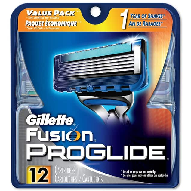 Gillette Fusion ProGlide 12 Cartridges for $25.99 + Free Shipping