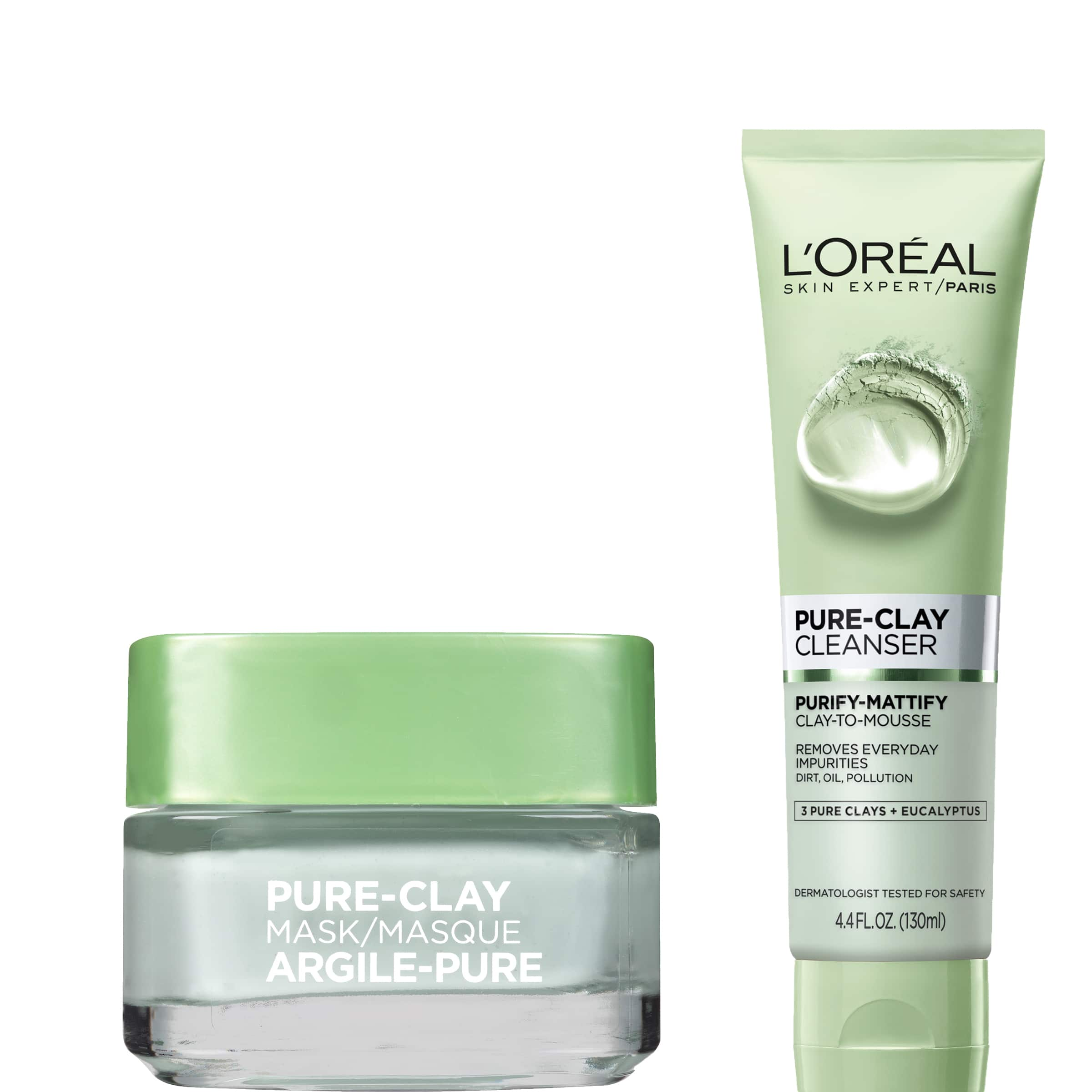 L'Oréal Paris Pure Clay Mask and Cleanser Set for $11 + Free Shipping