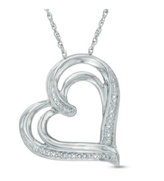 Zales: Diamond Accented Pendant or Earrings for $19.99 + Free Shipping