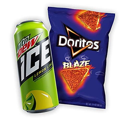 mountain dew mtn dew ice doritos blaze variety pack 12 count for