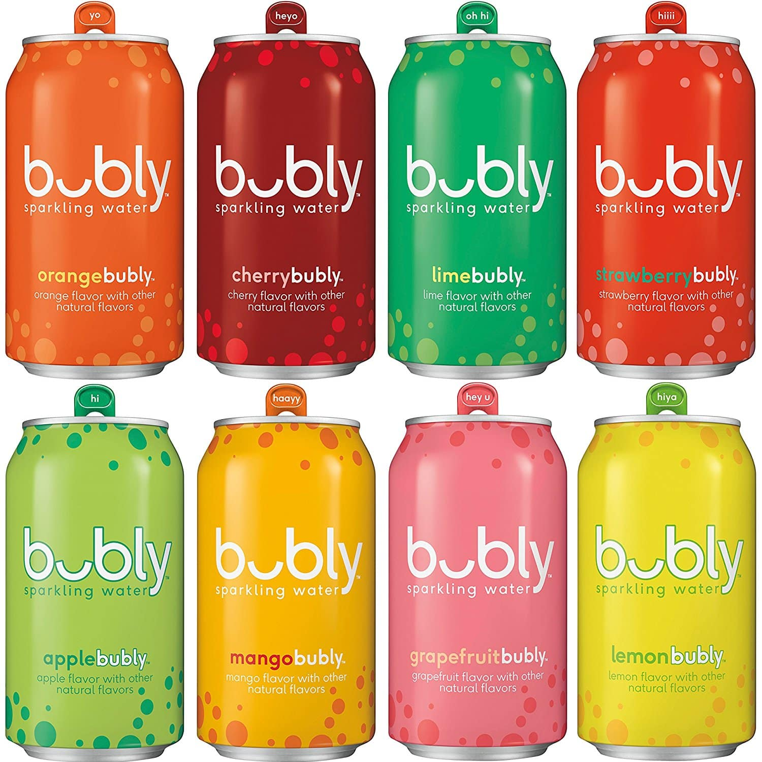 Add on item: bubly Sparkling Water Sampler, Variety Pack, All 8 Flavors, 12 Ounce Cans (18 Count) for $7.21
