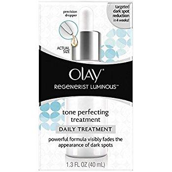 Olay Regenerist Luminous Tone Perfecting Treatment, 1.3 Fl Oz for $13.30 (prime members)