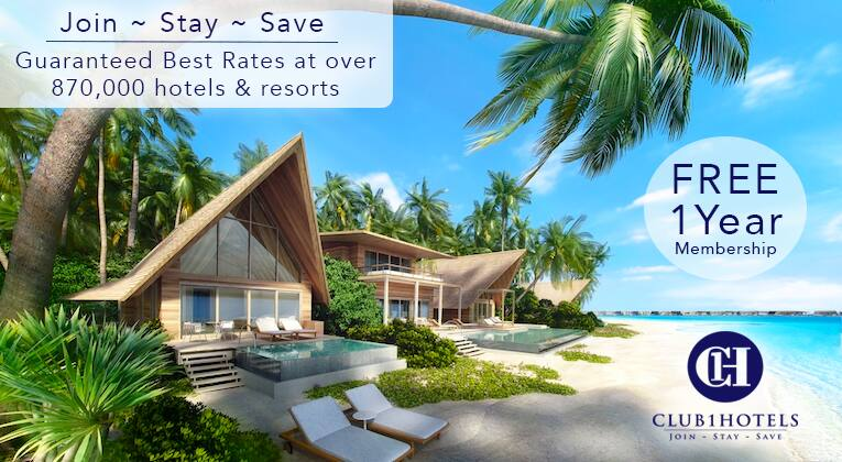 Club 1 Hotels: Free 1 Year Shoprunner Membership + Booking Credits up to $200 after your first booking