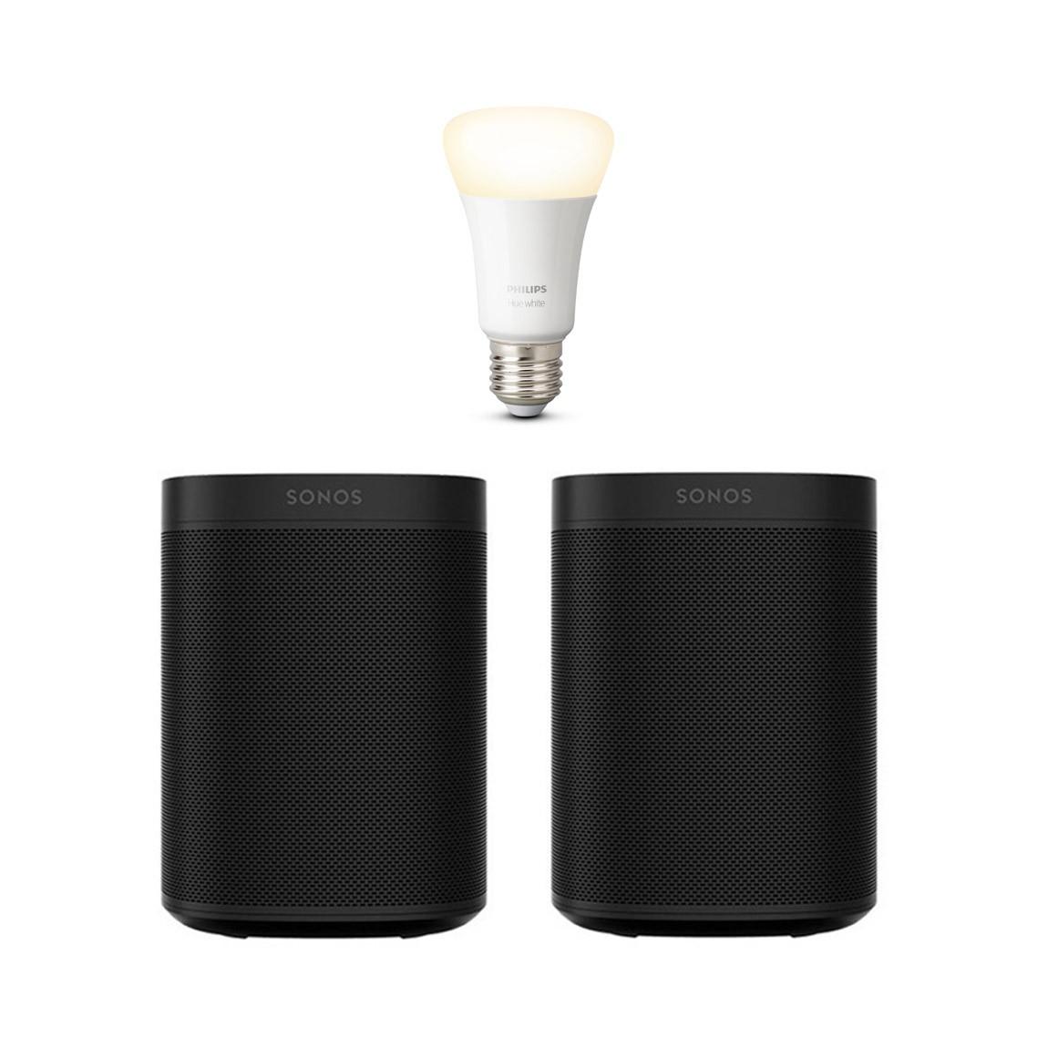 Sonos Bundles: SONOS ONE SL + Philips Hue White Bluetooth Smart Bulb A19 for $258 & Many More