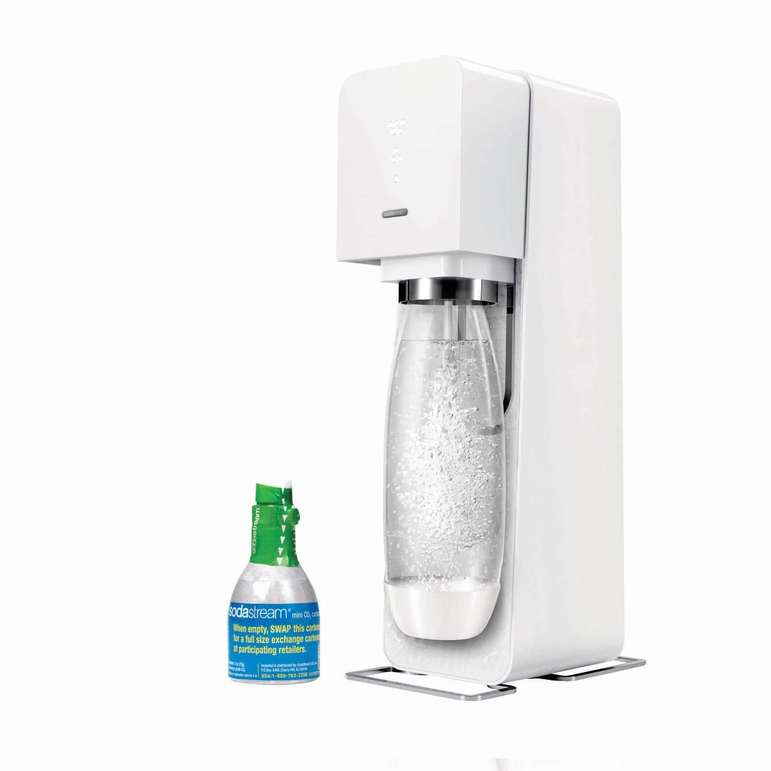 sodastream source sparkling water maker starter kit white. Black Bedroom Furniture Sets. Home Design Ideas