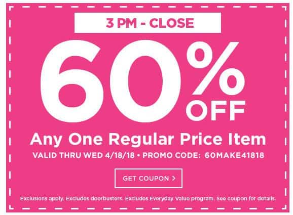 Michaels 60 Off Any One Regular Price Item In Stores And Online