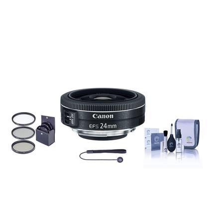 Canon EF-S 24mm f/2.8 Lens + Bundle: $99 at Adorama
