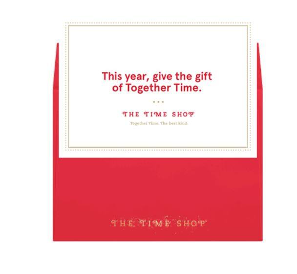 Free Chick Fil A christmas time card / time shop
