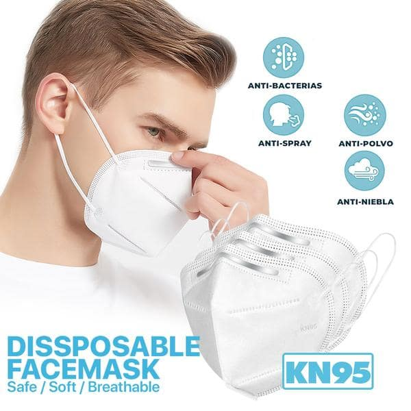 10 Pack - 5Ply Disposable KN95 Face Mask 9.39 + FS $9.39