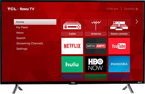 "TCL - 43"" Class - LED - 4 Series - 2160p - Smart - 4K UHD TV with HDR Roku TV $279.99"