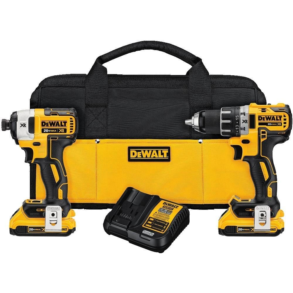 DEWALT DCK283D2 MAX XR Lithium Ion Brushless Compact Drill/Driver & Impact Driver Combo Kit  - $230 w/ Prime shipping