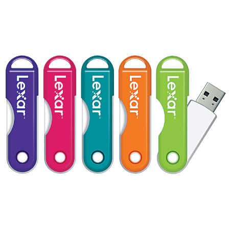 Lexar JumpDrive TwistTurn USB 2.0 Flash Drive, 16GB, Assorted Colors $4.99