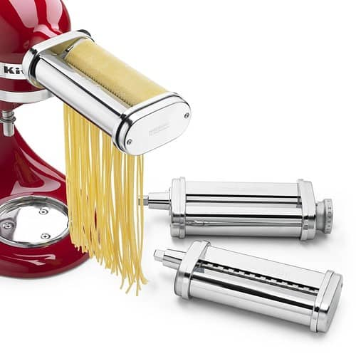 KitchenAid® 3-Piece Pasta Roller & Cutter Set (KSMPRA) $109.99 +FS @amazon