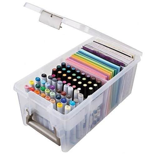 ArtBin Marker Storage Satchel with 1-Marker Tray and 2 Dividers; Clear Storage Container, 6934AB [Pack of 1] $10.6 @amazon
