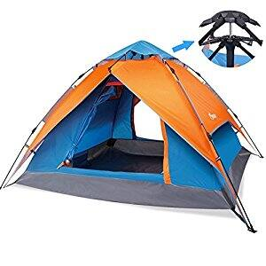 Yodo Easy Up Instant Tent for Family Camping, Orange/ Blue $24 +FS @amazon