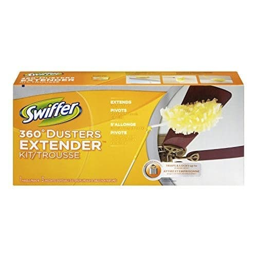 Swiffer 360 Dusters Extendable Handle Starter Kit, 3 Count Duster Refill [1] $5.62 add-on item @amazon