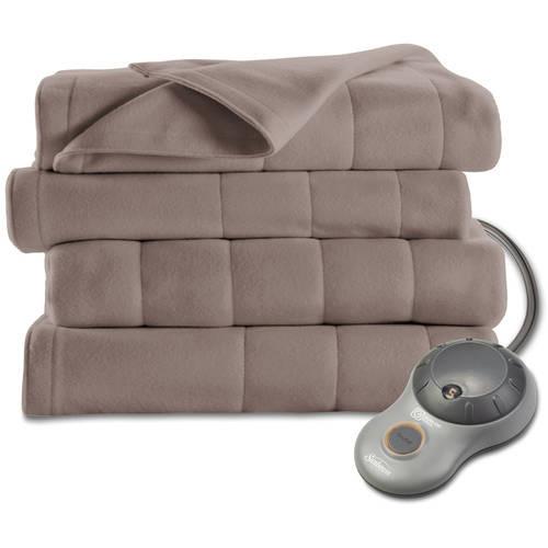 Sunbeam Quilted Fleece Heated Blanket, Queen, Mushroom, BSF9GQS-R772-13A00 [Mushroom, Queen] $55.99 +FS @amazon