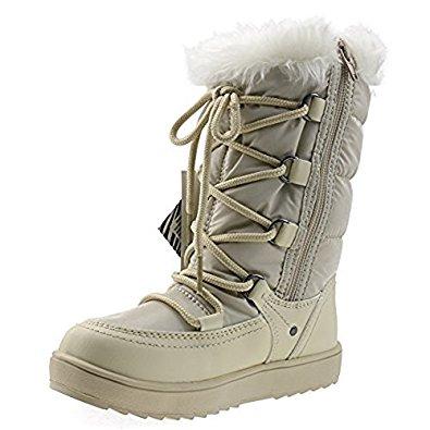 Orgrimmar Girls Warm Wool Waterproof Snow Boots $12 @amazon