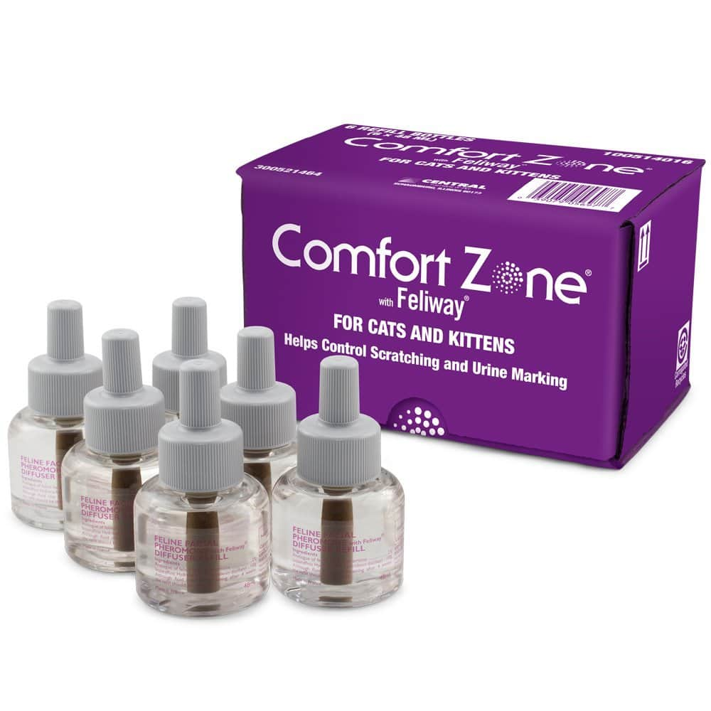 6-PACK Comfort Zone with Feliway Refill (288 mL) $35.93 FS@amazon