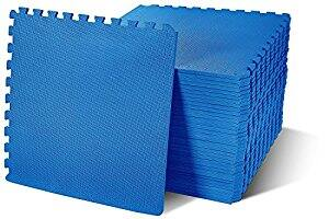BalanceFrom Puzzle Exercise Mat with EVA Foam Interlocking Tiles, Blue, 144 sq. ft.(Pack of 36) $80.44 FS @amazon