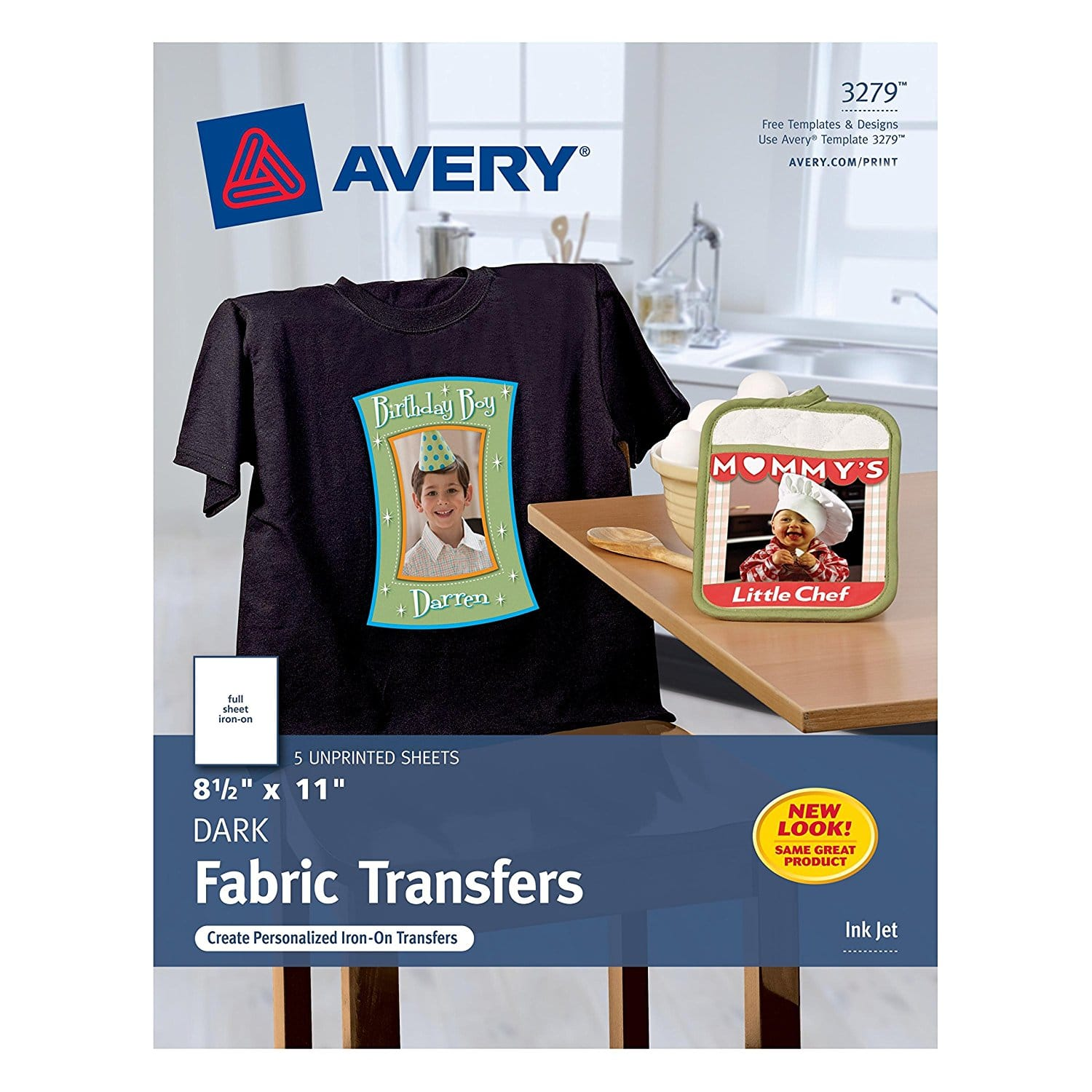 "Avery Dark T-Shirt Transfers, Matte, 8-1/2"" x 11"", 5 Sheets (3279) $6.99 add-on item @amazon"