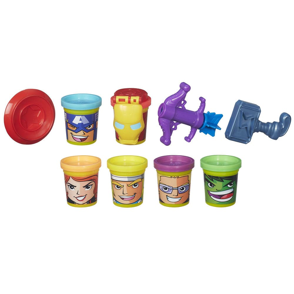 $2.5 Play-Doh Marvel Heroes Assemble with Can-Heads