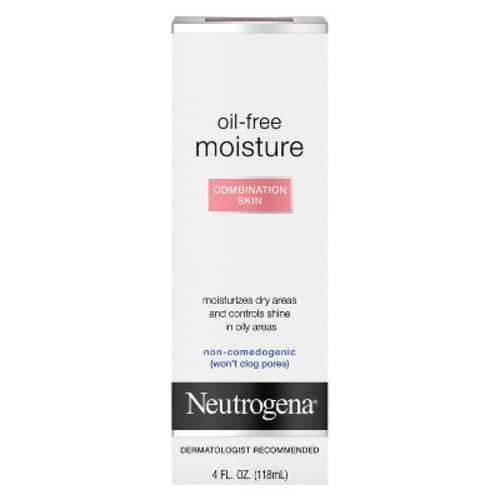 Neutrogena Oil-Free Moisture, Combination Skin, 4 Fl. Oz. add-on item $6.99 @amazon