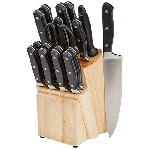 AmazonBasics Premium 18-Piece Knife Block Set $44.99 + Free shipping @amazon