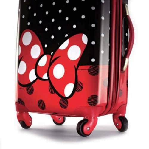 American Tourister Disney Minnie Mouse Red Bow Spinner Hard Side Suitcase $85.99 FS @amazon