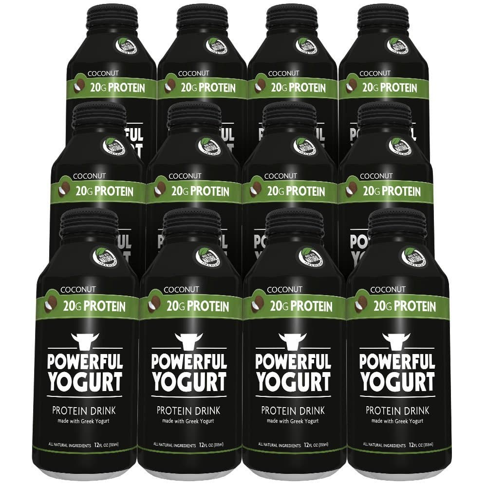 Powerful Yogurt Protein Drink, Greek Yogurt Coconut, 12 Count [] $14.25 S&S @amazon