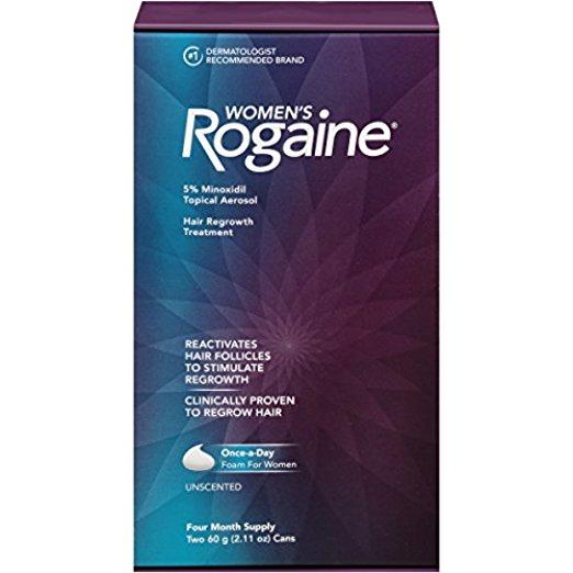 Women's Rogaine Hair Regrowth Treatment Foam, 4 Month Supply, 2 pk S&S $22.8 @amazon