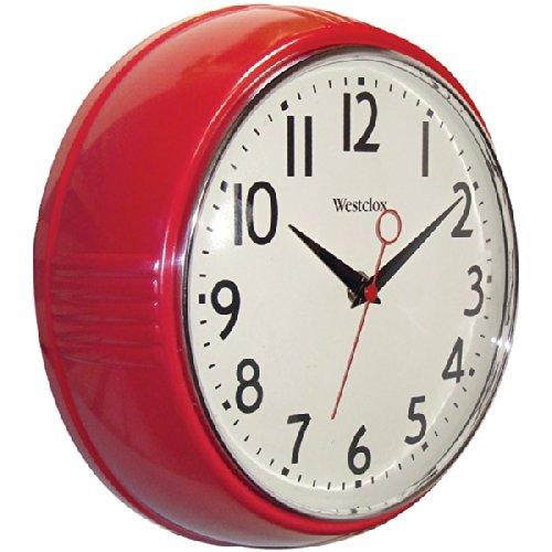 Westclox 32042R Retro 1950 Kitchen Wall Clock, 9.5-Inch, Red add-on item $7.5 @amazon