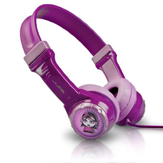 JLab Audio JBuddies Kids- Volume Limiting Headphones, GUARANTEED FOR LIFE - Purple [Standard Packaging, Non-Folding] $9.99 @amazon