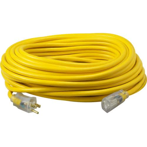 Yellow Jacket 2884 12/3 Heavy-Duty 15-Amp SJTW Contractor Extension Cord with Lighted Ends, 50-Feet $29.99 FS@amazon