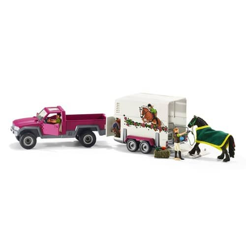 Schleich North America Pick Up with Horse Trailer Playset $40 FS @amazon