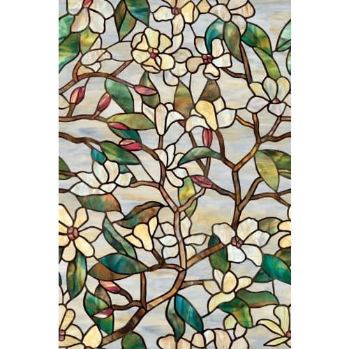 "Artscape Summer Magnolia Window Film 24"" x 36"" $11.75 @amazon"