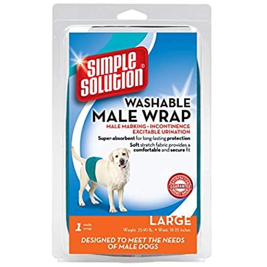 Simple Solution Washable Belly Band Male Dog Diaper [Large] $5.5 add-on item @amazon