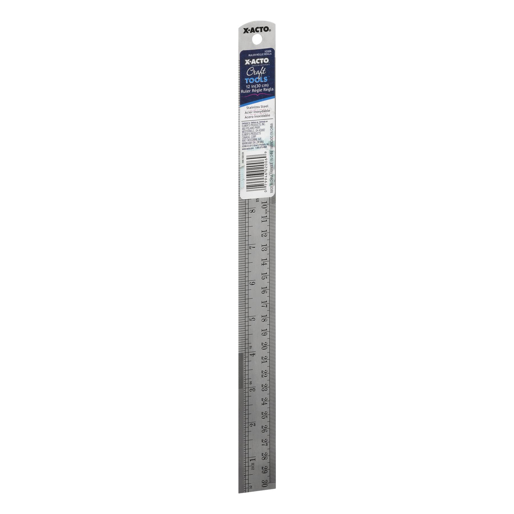 X-ACTO X2006W24 Designer Series Decorative Metal Ruler, 12-Inch $1.98 add-on item @amazon