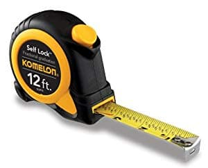 Komelon SL2912 Self Lock Speed Mark 12-FootPower Tape [1] $3.37 add-on item @amazon