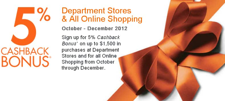 Discover card - Sign up 5% Cashback bonus for 4th QTR