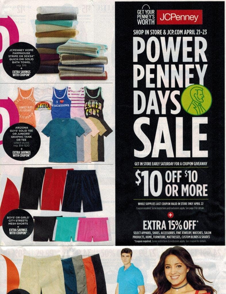 $10 off $10 or more coupon giveaway at JCPenny Stores
