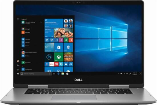 "Dell - Inspiron 2-in-1 15.6"" Touch-Screen Laptop - Intel Core i7 - 12GB Memory - 2TB Hard Drive - Era Gray $800"