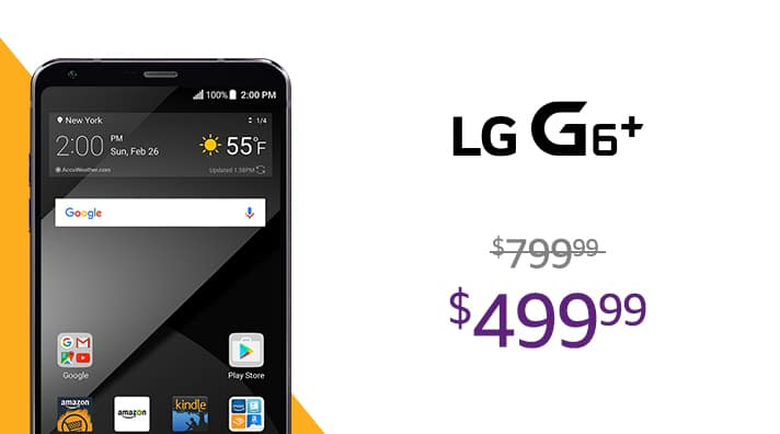 AMAZON Prime Exclusive---LG G6 and G6 Plus for $399 and $499 with lockscreen offers and ads--All unlocked and More