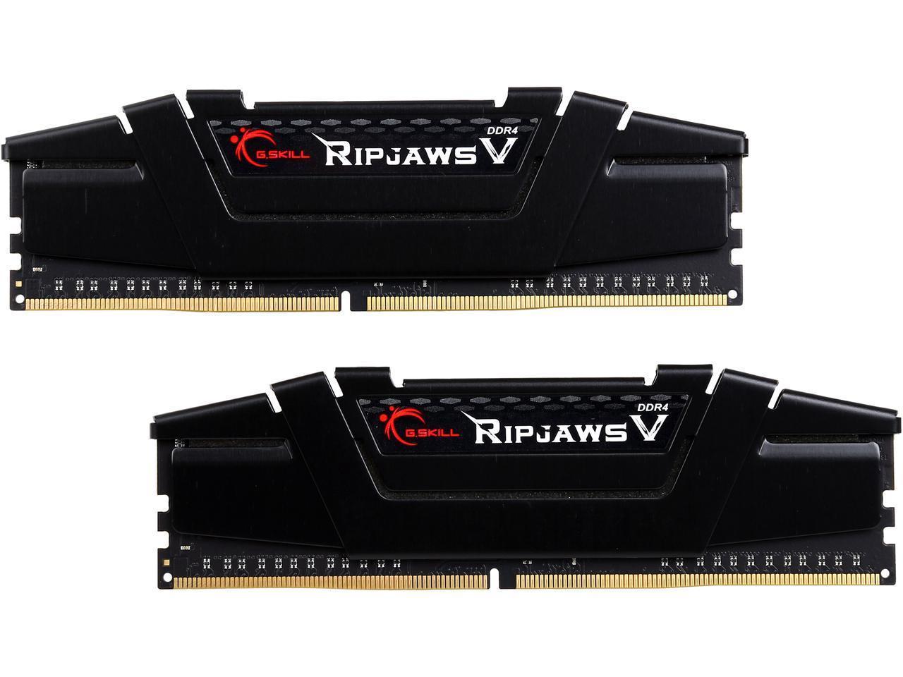 NEWEGG - G.SKILL Ripjaws V Series 16GB (2 x 8GB) 288-Pin DDR4 SDRAM DDR4 3200 (PC4 25600) Desktop Memory Model F4-3200C14D-16GVK - $125