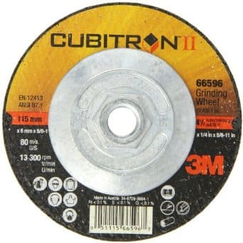 "3M Cubitron II Depressed Center Grinding Wheel, T27, Quick Change, 4-1/2"", 36+ (Pack of 1) –Amazon Lightning Deal – 50% off – $5.94 after discount"