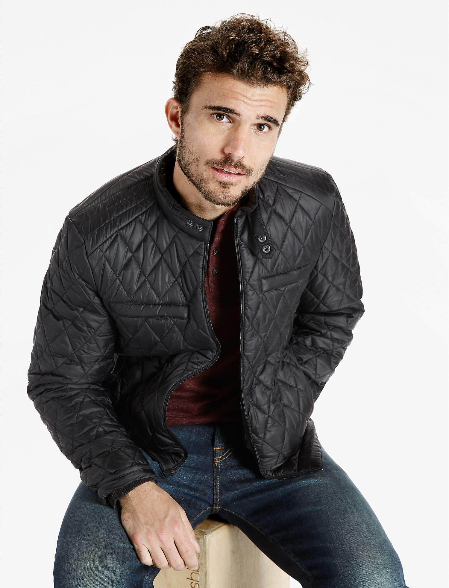 Lucky Brand has a Cafe' Style nylon Racer Jacket on sale for $50.00 regularly $129.00