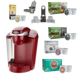 Keurig K55 Coffee Maker w/ My K-Cup, 43 K-Cup Pods & Water Filters $69.96