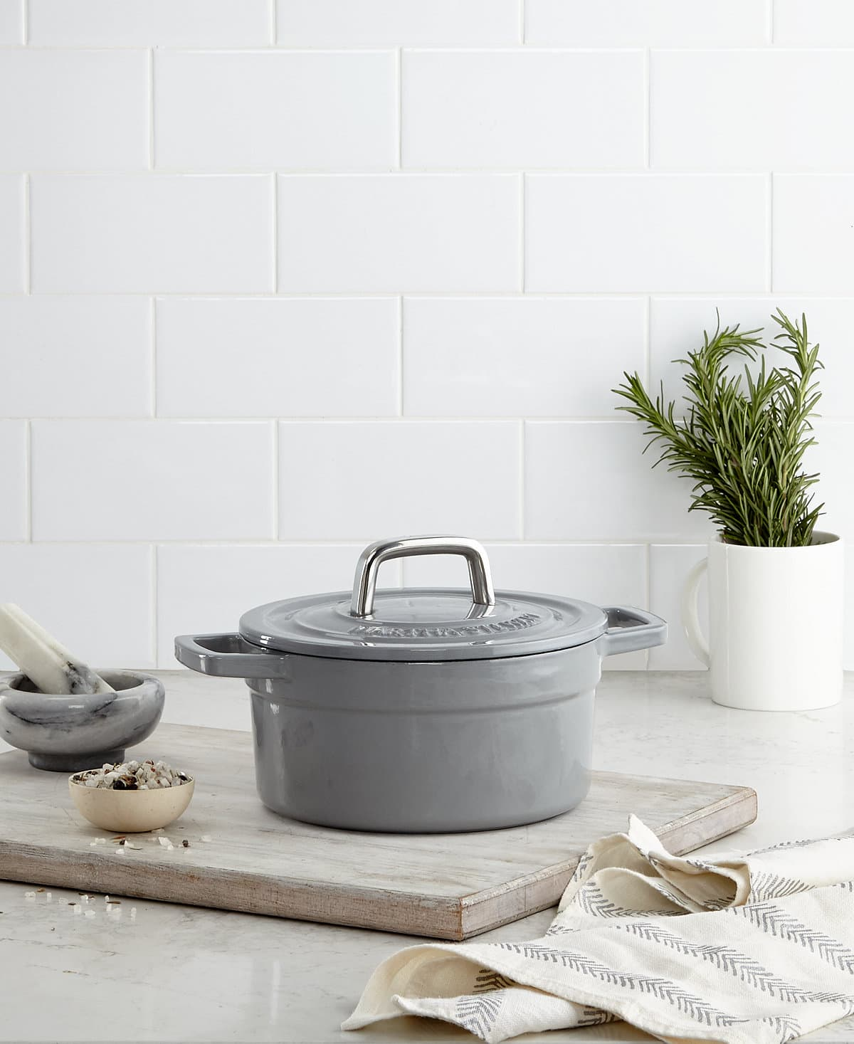 Collector's Enameled Cast Iron 2 Qt. Round Dutch Oven $34.99 Shipped