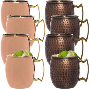 4pk Antique Hammered Old Dutch 16oz Nickel-Lined Solid Copper Moscow Mule Mugs $16.00 + F/S