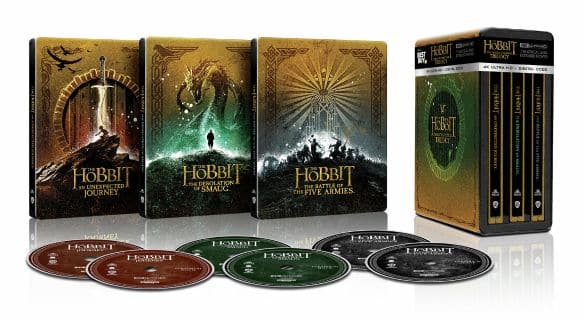 The Lord of the Rings Trilogy and The Hobbit - Steelbook - 4K Ultra HD + Blu-Ray - $119.99 Each
